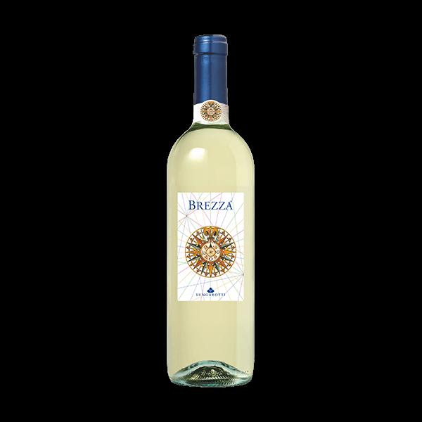 Brezza Bianco von Lungarotti, ideal um leichte Speisen zu hofieren.