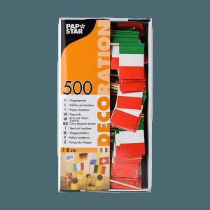Picker Flagge Italien 500 Stück, Deko