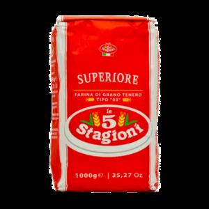 Mehl für Pizza von Stagioni ist eine gute Wahl.